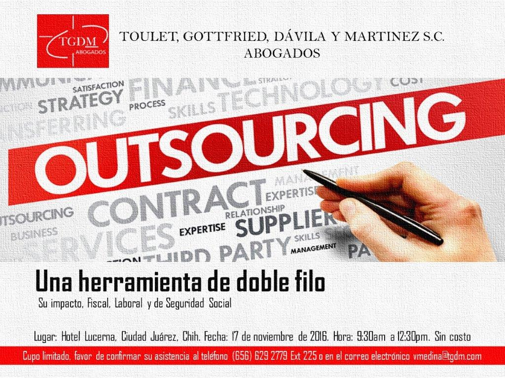 Outsourcing, una herramienta de doble filo. Seminario 17 de Noviembre, 2016.